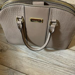 Anne Klein lg tan/taupe satchel 17 by 10